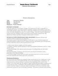 Industrial Maintenance Resume Mechanic Installation And Repair Stan ...
