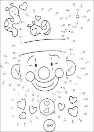 Small Picture Connect the Dots Coloring Pages of Clown Coloring Pages
