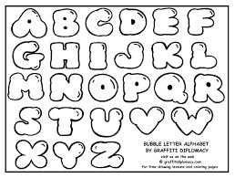 Graffiti Alphabet Bubble Letters Printable Coloring Pages Clip