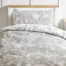 wilko botanical grey duvet set single image 1