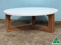 antwerp australian made solid spotted gum hardwood timber round coffee table polyurethane top coffee tables
