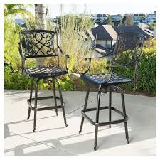 target patio bar set. Contemporary Patio Santa Maria Set Of 2 Cast Aluminum Patio Bar Stools  Shiny Copper  Christopher Knight Home  Target And T