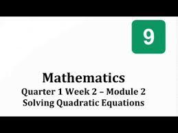 answer math 9 module week