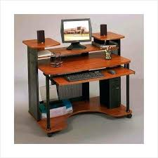 sauder graham hill desk multi level computer workstation black and cherry home office with hutch creative