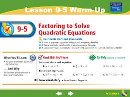 1 algebra 1 lesson 9 5 warm up