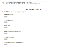 behavior intervention plan word pdf documents  behavior intervention plan form word