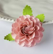 Dahlia Flower Making With Paper Easy Paper Flower Tutorial Paper Flower Templates Cricut 3d Flowers Svg Pdf Small Flowers Party Decor Round Ball Dahlia