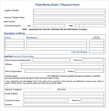 14 Work Order Samples Pdf Word Excel Apple Pages