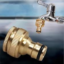 brass garden hose tap quick adaptor