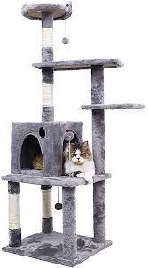 "Ohana 54.7"" <b>Cat Tree</b>,Kitty Toy Cat Scratching Post <b>Natural</b> Sisals ..."