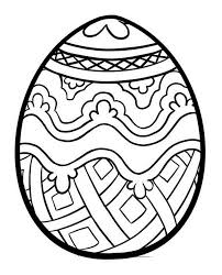 Printable Easter Egg Coloring Pages At Getdrawingscom Free For