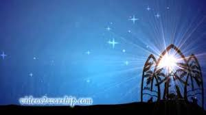 blue christmas background nativity. Christmas Nativity Worship Background On Blue