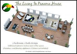 3d floor plan of 2 bedroom 1 bath design option