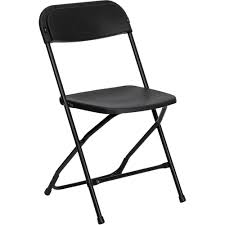 Hercules Series 800 Lb Capacity Black Plastic Folding Chair