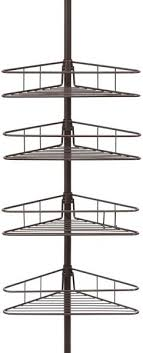 kenney 4 tier triangle basket tension pole shower caddy oil rubbed bronze