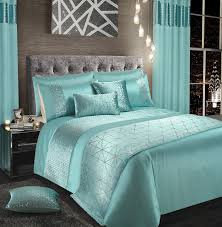 duck egg silver shimmer stylish glitzy duvet cover luxury modern bedding range 12132 1 p jpg