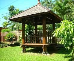 Cara membuat saung gazebo dari kayu yang sederhana. 70 Model Gazebo Kayu Sederhana Di Taman Rumahku Unik