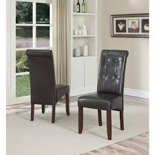 um size of faux leather parson diningr set ofrs cream parsons gray morgana tufted archived on