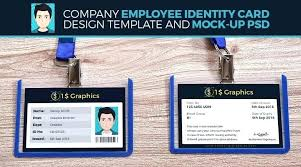 company id card templates id card template inspirational badge shop psd vertical file free