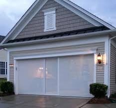 Exterior Retractable Single Garage Door Screen Retractable Single
