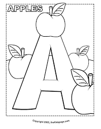 A Is For Apple Coloring Page Fresh Alphabet Coloring Pages Pdf