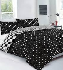 black polka dot duvet cover