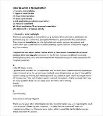 Sample Official Letter Formats 8 Download Free Documents