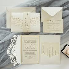 Wedding Invitation Folding Affordable Pocket Wedding Invitations Invites At Elegant Wedding