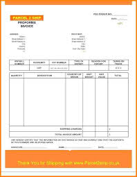 5 Proforma Invoice Means Free Invoice Letter
