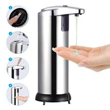 <b>250ml</b> Stainless Steel Automatic Soap Dispenser Handsfree ...