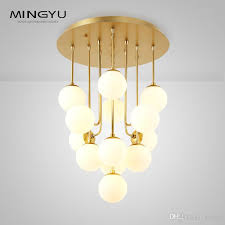 longree bubble glass orb chandelier white luxury ball in decor 7