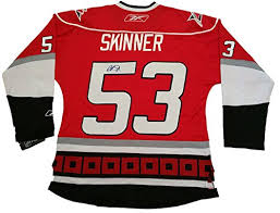 Jeff Sports Autographed Skinner For Hurricanes Calder Us Hurricanes Trophy Amazon's At Signing W Carolina Jersey Of Store Collectibles proof Picture
