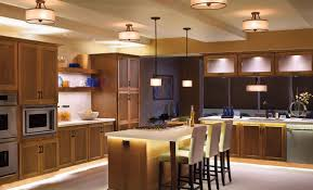 counter kitchen lighting. Awesome Wooden Furniture And Kitchen Ceiling Light Above Pure Counter On White Floor Lighting E