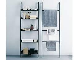 wooden towel rack bathroom wall shelf