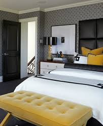 Black White Yellow Bedroom Ideas