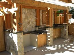 Rustic Outdoor Kitchen Small Kitchen Counter And Stand Designs For Backyard Decorations