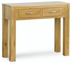 Sherwood Bedroom Furniture Hutchar Sherwood Solid Oak 2 Drawer Console Table