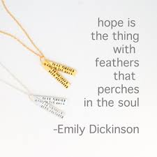 Emily Dickinson Quote Necklace