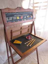 vintage school desk child educational learning board home school easel chalkboard primitive rustic decor