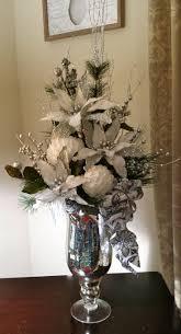 Christmas Floral, Silver & White Floral, White Poinsettias, Christmas  Decor, Cardinal on