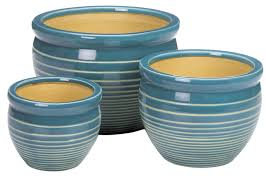 Light Blue Planter Light Blue Ceramic Planter Set