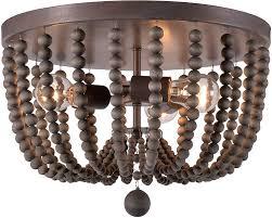 Beaded Flush Mount Ceiling Light Kenroy Home 93134gbrz Dumas Fixtures Golden Bronze With