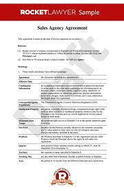Hr Contract Templates Cool Sales Agency Agreement Sales Agency Contract Template