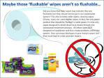 flushable