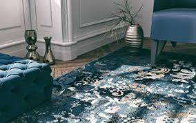 premium contemporary rugs for living room luxury 5x8 navy blue brown beige black flower abstract area