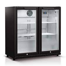 190 litre double glass door bar fridge