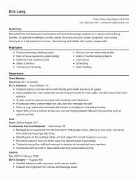 Food Handler Resume Example Templates Examples New Collection Of
