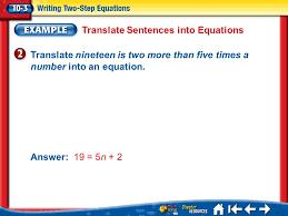 46 translate sentences into equations splash screen ppt