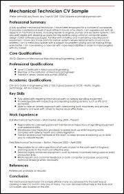 Resume Template Mechanical Resume Sample Free Resume Template