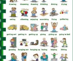 Verb Action Action Verbs Picture Dictionary